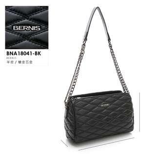 🚚 BERNIS|手工繡線小羊皮 三層式斜背包 #貝爾尼斯 #BNA18041BK