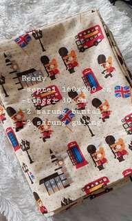 Sprei Seprei lengkap dengan sarung guling dan bantal