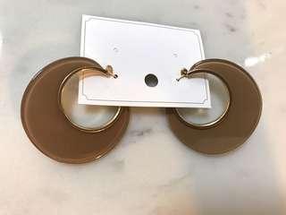 Acrylic earrings hoops