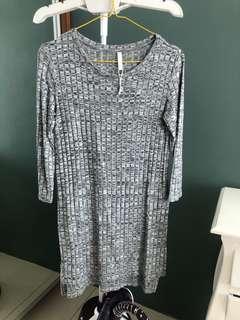 Sale gray knitt dress stradivarius