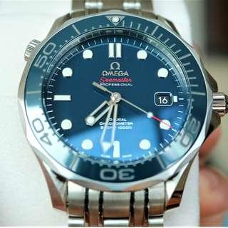 Omega Sea Master 300 Ceramic Blue 41mm, Full Set 99% New, Discontinued!