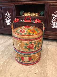 Vintage 2 tier Teochew Wedding basket