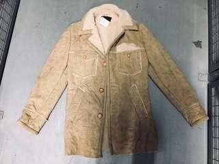 Vegan suede and sherpa jacket