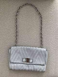 Authentic Salvatore ferragamo woven leather bag