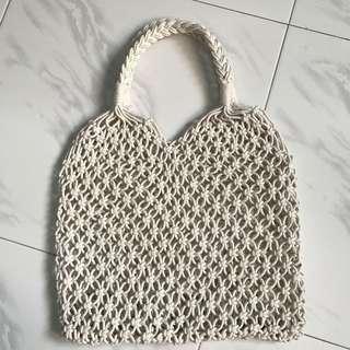 Instock macrame weave bag