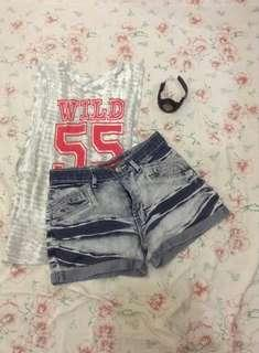 Midwaist Denim short