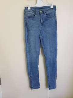 Cropped jeans size 8
