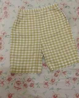 Highwaist checkered short