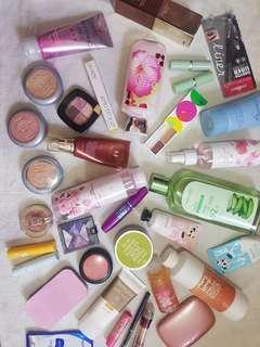 SUPER BUNDLE Make Up + Skincare Missha Loreal Maybelline Clinique Colourpop lipstick blush bb cream powder lotion