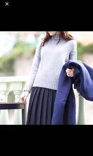 韓國製JOYCE灰藍色兔毛冷衫 Grey Blue Knit