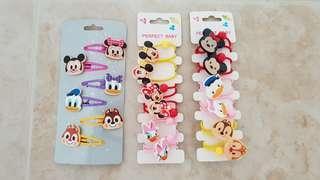 BN Disney Mickey Minnie Hair Ties Hair Clips