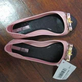 Grendene Barbie Pink Glitter Flats x Grendha Zaxy Mel