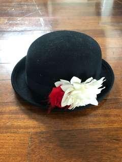 H&M Bowl Hat with Flowers