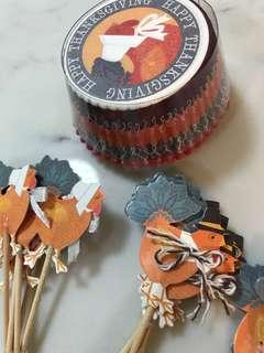 Thanksgiving cupcake muffin and toppers