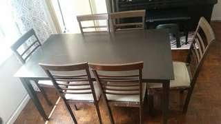 Preloved 5-Seater Dining Table (Last Price Posted)