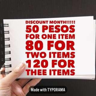 Discount Month