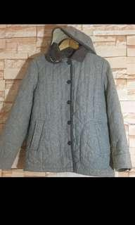 Puffer Coat with Hood and Lining