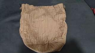 全新 雙面 皺紋 滑滑絹料 索繩袋