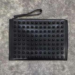 Zara studded clutch