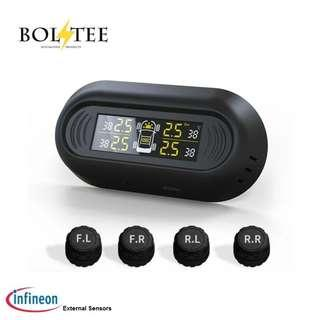 Windscreen Solar Powered Tyre Pressure Monitoring System (TPMS) with SP37 Infineon Sensors, not cheap chinese knock-offs (model: TP-S12E) - New Launch Promotion Pricing