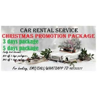 CAR RENTAL Christmas Promotion Package