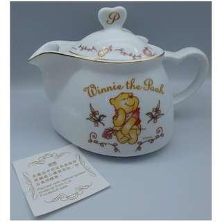 Disney 迪士尼~ 小熊維尼 WINNIE THE POOH 心形 陶瓷茶壺