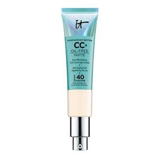 It cosmetics cc cream oil free light
