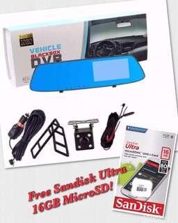 A75 Dual Camera Touch Screen LCD Vehicle Blackbox DVR
