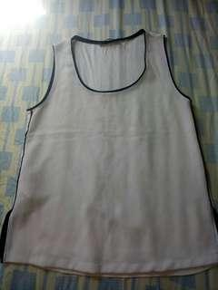 Off white sleeveless
