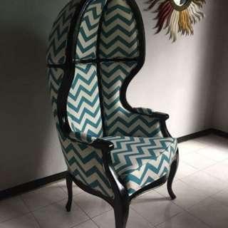 ballon wing designer chair