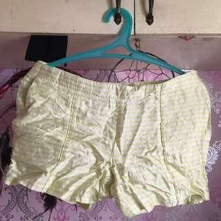 Calvin Klein Yellow Green & White Stripes Short (M-Size 38)