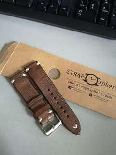 Leather Watch Strap 20mm