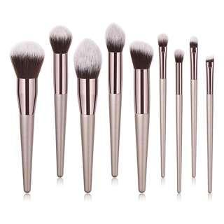 9pcs Champagne Brush Set