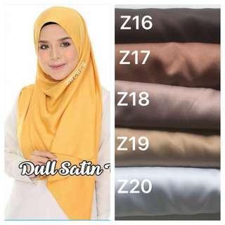Shawl Tudung hijab dull satin