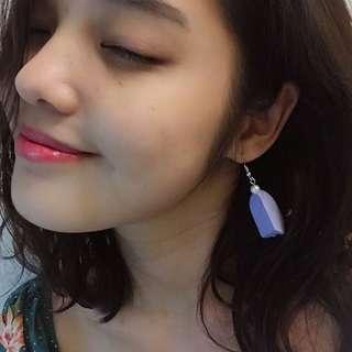 🚚 薰衣草紫氣質珍珠耳環
