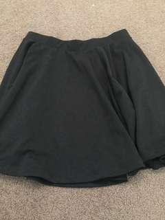 Black cotton on loose skirt size s