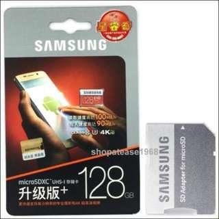 三星 Samsung EVO Plus Micro SD SDXC Memory Card 128GB Class 10