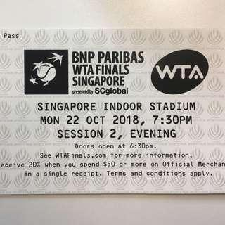 PAIR OF CAT A WTA FINALS SINGAPORE (SESSION 2)