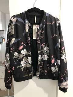 Floral bomber jacket new with tags