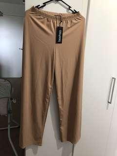 Boohoo petite wide leg pants
