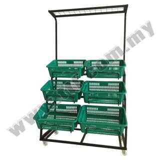 Vege Rack with 6 Baskets