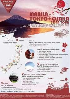 5D4N MANILA-TOKYO+OSAKA ALL IN PACKAGE