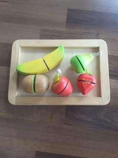 Wooden Toys - Fruit Cutting