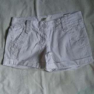 Bershka White Shorts