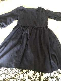 Navy mid sleeves dress