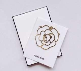 Authentic Chanel VIP Gift Gold Tone Bookmark