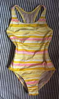 Speedo Striped Swimsuit