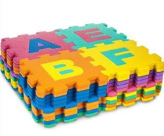 Non Toxic EVA Children Alphabets Jigsaw Play Mat 26 pieces (12in x 12in per piece)