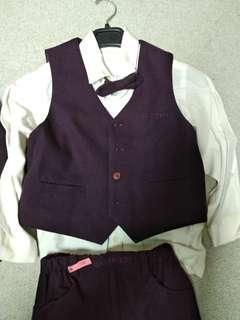 🚚 小花童西裝套裝110-120cm五件套(原價5000)