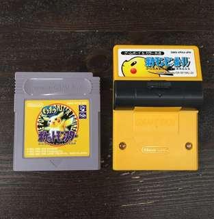 [GB] Pokémon Yellow w/ Rumble Pak - JAPANESE VERSION (日版)